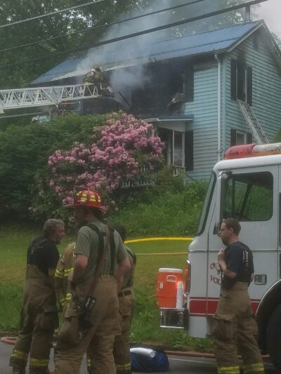Crews Battle House Fire In Center Twp.