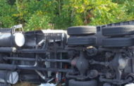 Overturned Tractor Trailer Causes Early Morning Mess