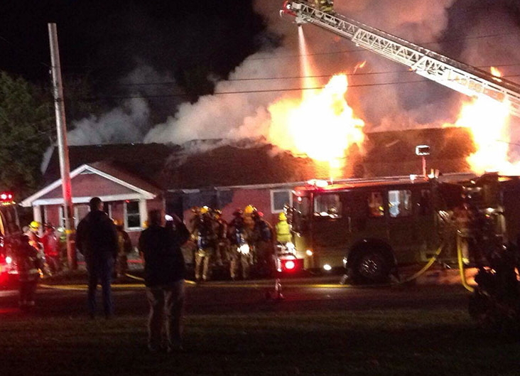 Crews Battle Sunday Night House Fire