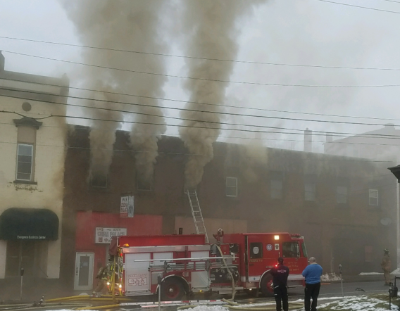 Downtown Fire Displaces 25