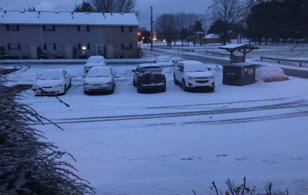 Overnight Snow Blanketed Southern Butler Co.