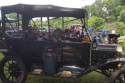 Model Ts Roll Into Saxonburg