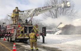 Firefighters Battle Slippery Rock House Fire