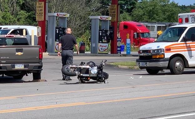 Motorcycle, Pickup Collide On Rt. 8