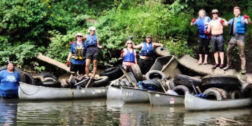 Group Pulls 800 Tires From Creek During Annual Clean-Up