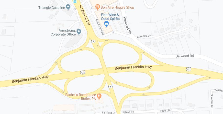 Route 422 And Route 8 Ramps Near Bon Aire To Close This Weekend