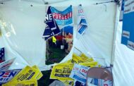 Democratic Booth Damaged At Zelienople Fall Festival
