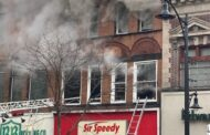 Four Alarm Fire at Sir Speedy Building in Downtown Butler