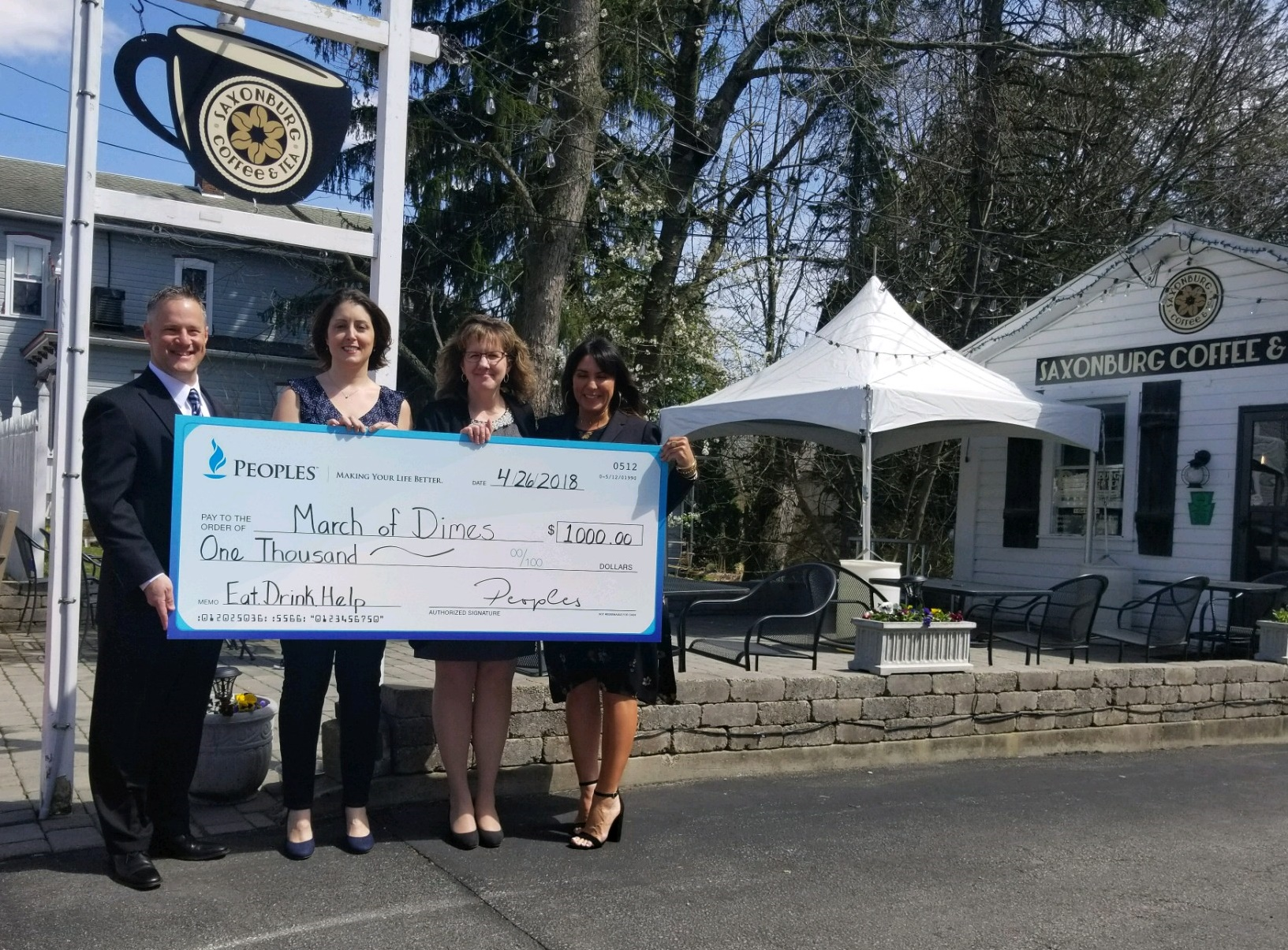 PEOPLES Partners With Small Business To Help Local Non-Profit