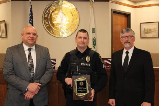 Grove City Police Recognize Officer Of The Year