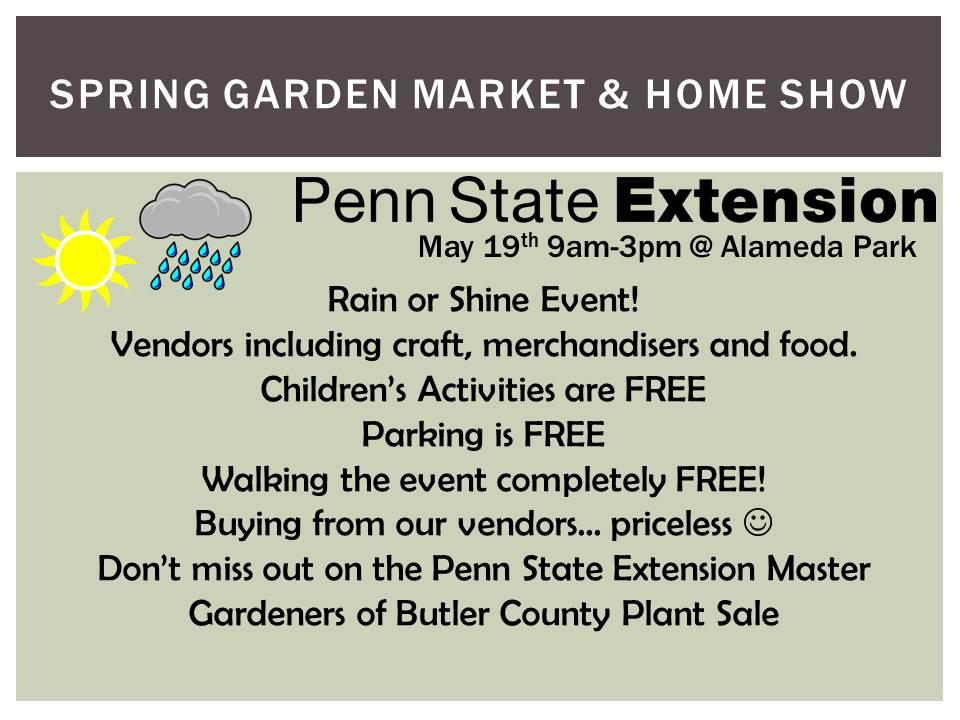 Spring Garden Market Home Show Butler Pa
