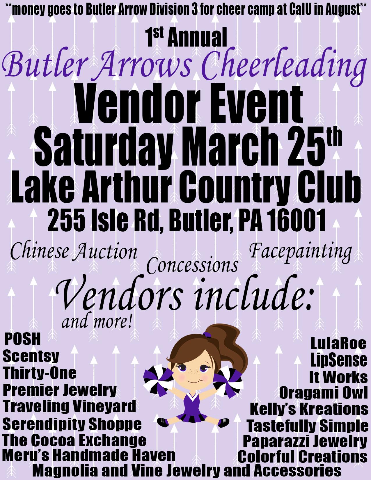 vendor event flyer purple
