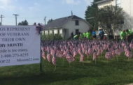 Flags Call Attention To Veteran Suicide